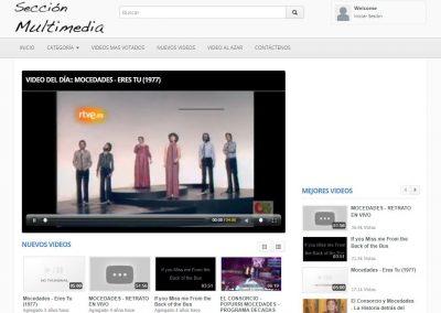 Sección Multimedia